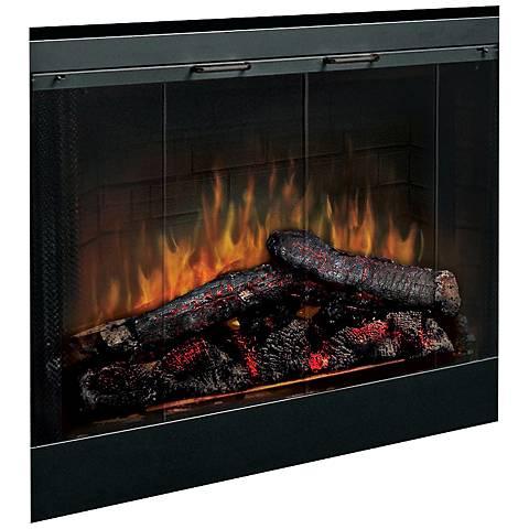 """Log Set 33"""" Wide LED Ember Built-In Fireplace"""