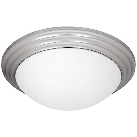 """Access Strata 14"""" Wide Brushed Steel Ceiling Light"""