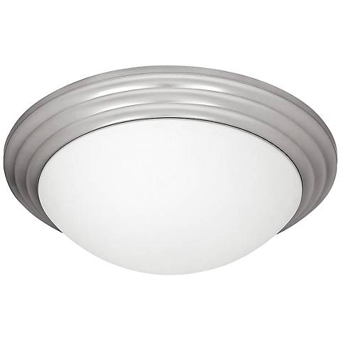 """Access Strata 16"""" Wide Brushed Steel Ceiling Light"""