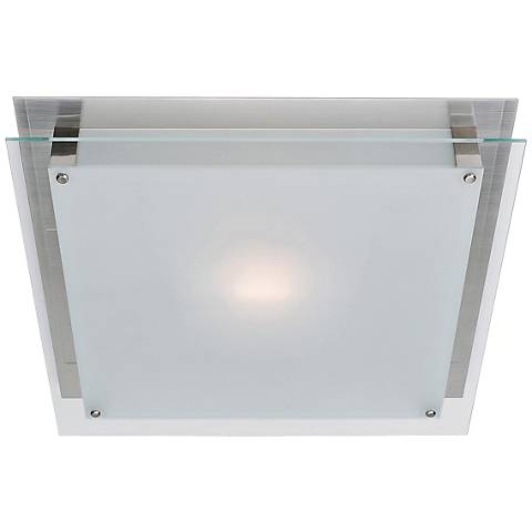 """Access Vision 15 3/4"""" Wide Brushed Steel LED Ceiling Light"""