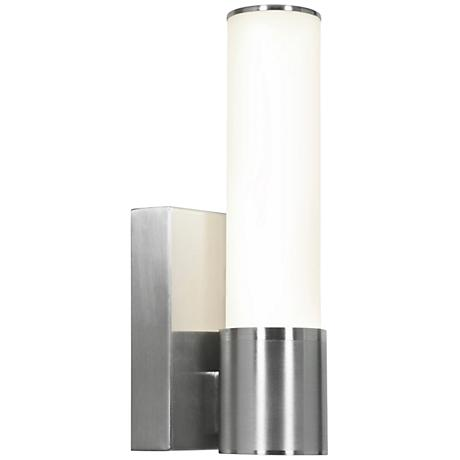 "Access Aqueous 11 1/4"" High Brushed Steel LED Wall Light"