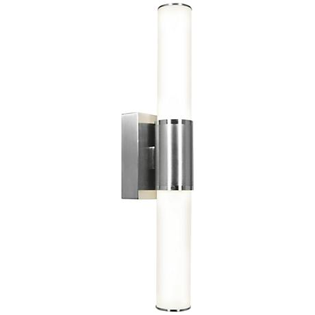 """Access Aqueous 21 1/10"""" High Brushed Steel LED Wall Light"""