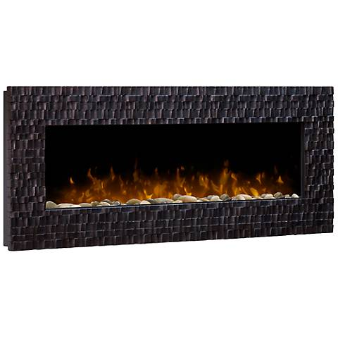 Wakefield Espresso and Copper Wall-Mount Fireplace