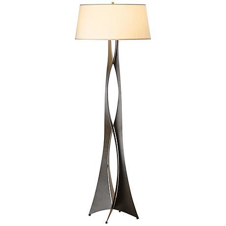 forge moreau steel contemporary floor lamp 3c988 lamps plus. Black Bedroom Furniture Sets. Home Design Ideas