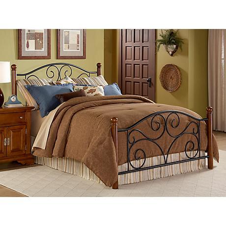 Doral Matte Black and Walnut Beds