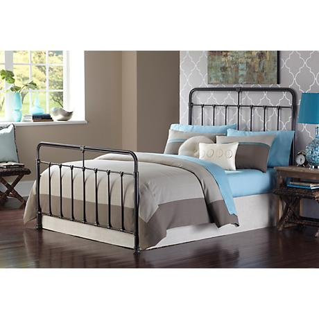 Fairfield Dark Roast Contemporary Metal Beds