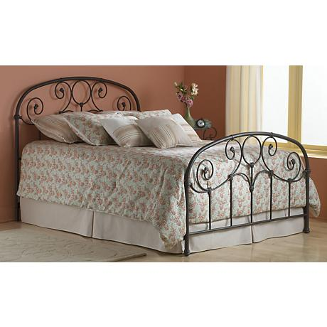 Grafton Rusty Gold Scrolling Metal Beds
