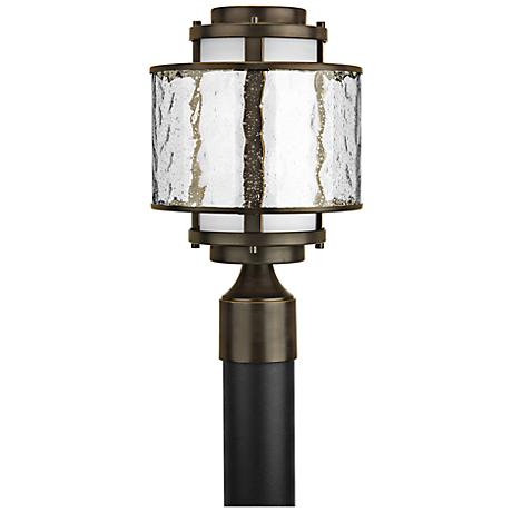 "Bay Court 11 1/2"" Wide Antique Bronze Outdoor Post Light"