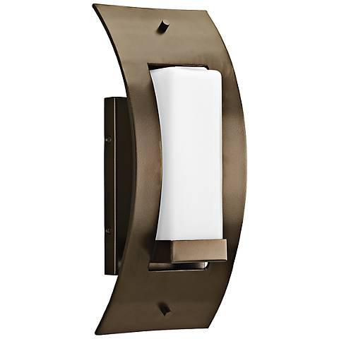 """Peek-a-Boo 13"""" High Antique Bronze Outdoor Wall Light"""