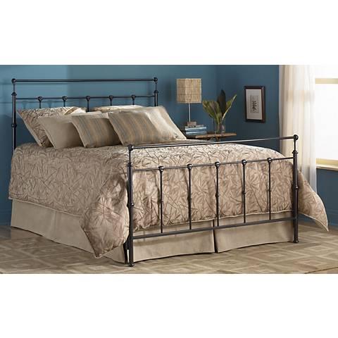 Winslow Mahogany Gold Metal Beds