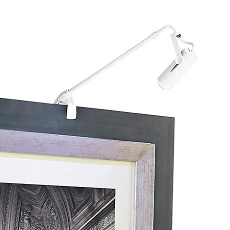 """WAC Clamp Mount 2"""" Wide White Adjustable Arm Picture Light"""
