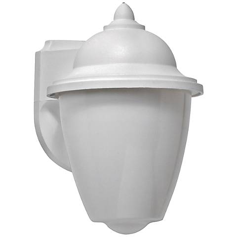 Park Point LED White Outdoor Wall Lantern