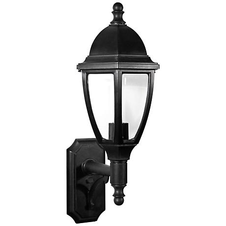 "Everstone 26 1/4"" High 100W Black Outdoor Wall Lantern"