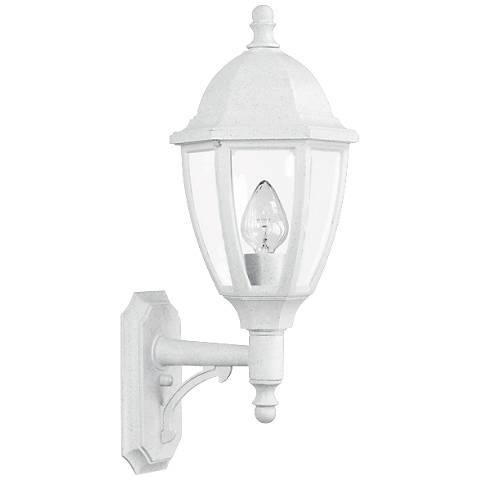 "Everstone 26 1/4"" High 150W White Outdoor Wall Lantern"