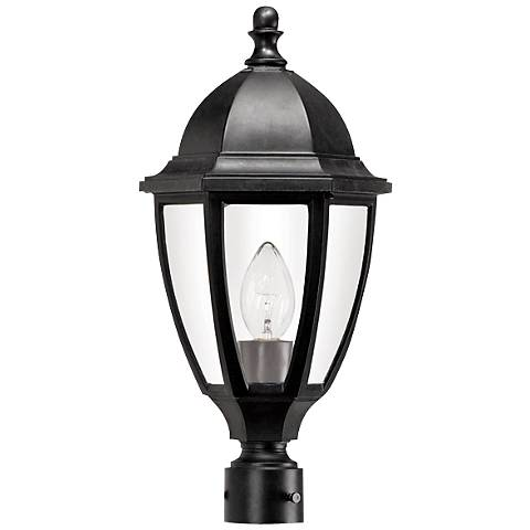 "Everstone 21 3/4"" High Black Outdoor Post Lantern"