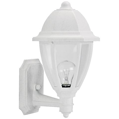 "Everstone 15"" High White Outdoor Wall Lantern"
