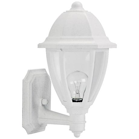 "Everstone 15"" High White Outdoor Wall Lantern"