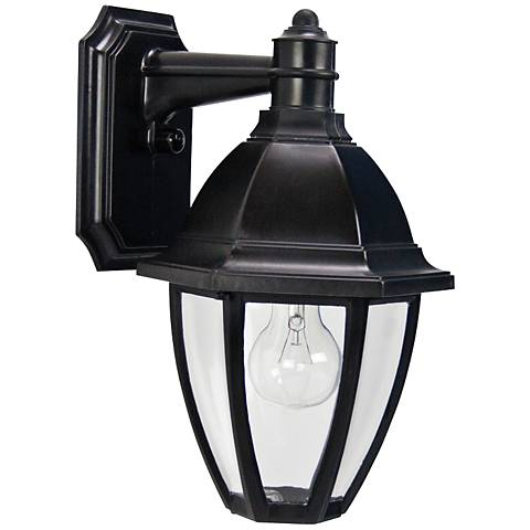 "Everstone 13 3/4"" High Black Outdoor Wall Lantern"