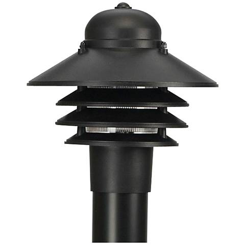 "Marlex Nautical 10"" High Black Outdoor Post Light"