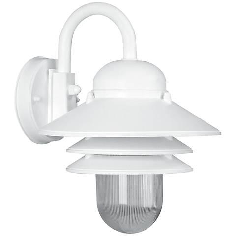 "Marlex Nautical 13"" High White Outdoor Wall Light"