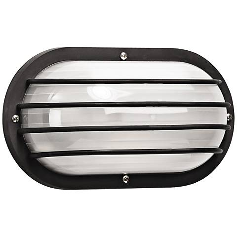 Wave Nautical Bulk Head LED Black Outdoor Wall Light