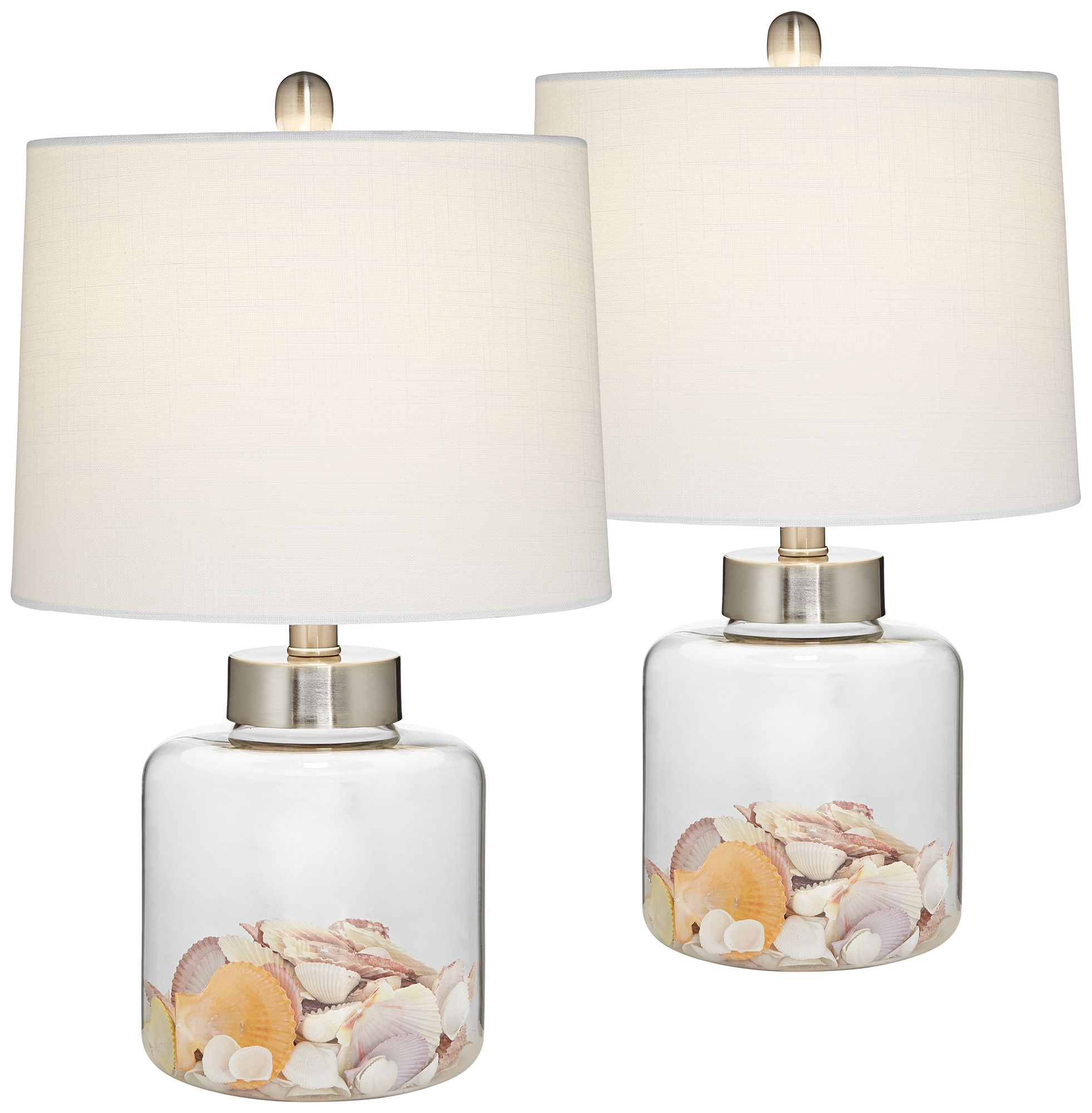 glass canister small fillable accent lamp set of
