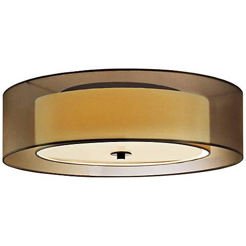 "Sonneman Puri 22""W Black Brass Fluorescent Ceiling Light"