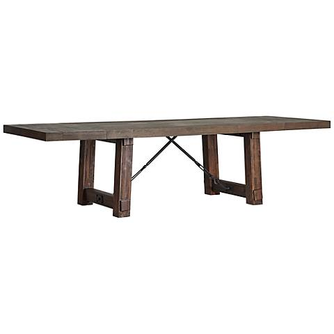 Carter Rustic Java Extension Dining Table