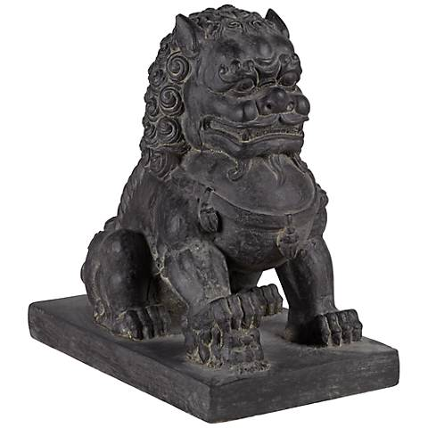 """Right Foot 13 1/2"""" High Chinese Dog Outdoor Statue"""
