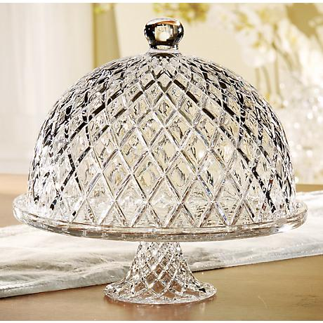 "Muirfield Glass 12"" Round Cake Stand with Dome"