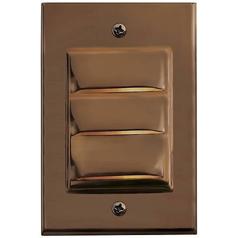Hinkley Hardy Island Vertical Matte Bronze LED Deck Light