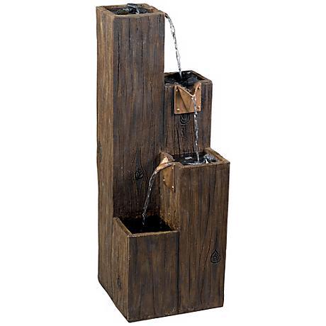 """Timber 4-Level Indoor - Outdoor Floor 25"""" High Fountain"""