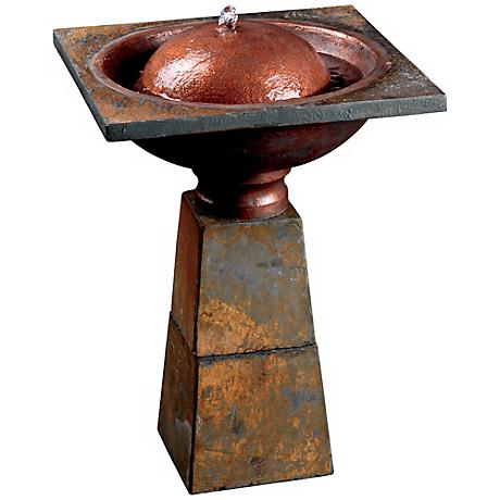 Cauldron Bird Bath Decorative Garden Fountain