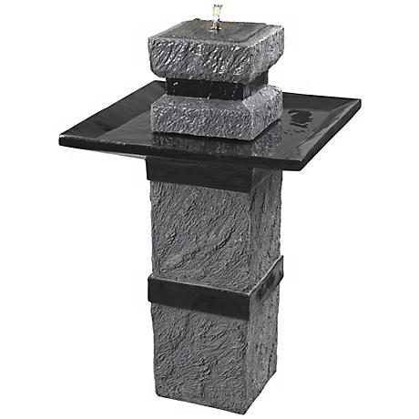 Monolith Solar Powered Remote Control Fountain