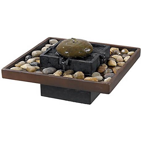"""Bliss Two-Tone Bronze Indoor 9"""" High Table Fountain"""