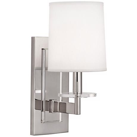 Robert Abbey Polished Nickel Alice Plug-In Wall Sconce