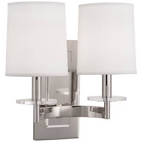 Alice Polished Nickel Plug-In Double Wall Sconce