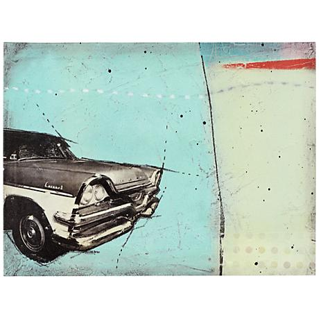 """Classic I 24"""" Wide Vintage Automobile Wall Art"""