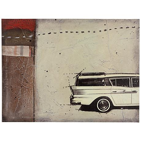 """Classic IV 24"""" Wide Vintage Automobile Wall Art"""