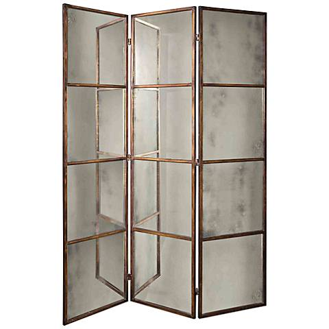 Uttermost Avidian 3-Panel Mirrored Screen