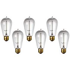 6 Pack 40 Watt Edison Style Medium Base Light BulbsEdison Bulbs   Lamps Plus. Base Lighting And Fire Limited. Home Design Ideas
