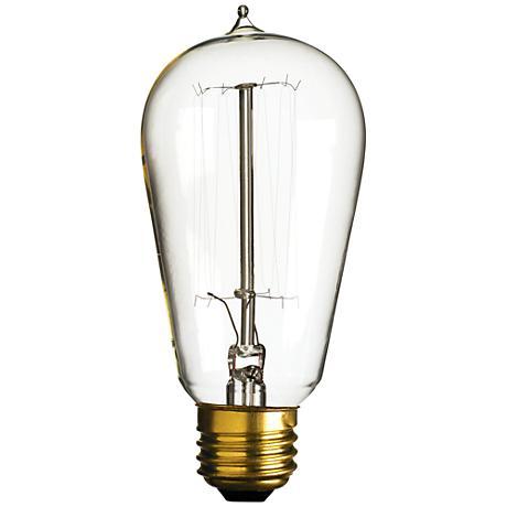 40 watt edison style medium base light bulb 3f797 lamps plus. Black Bedroom Furniture Sets. Home Design Ideas
