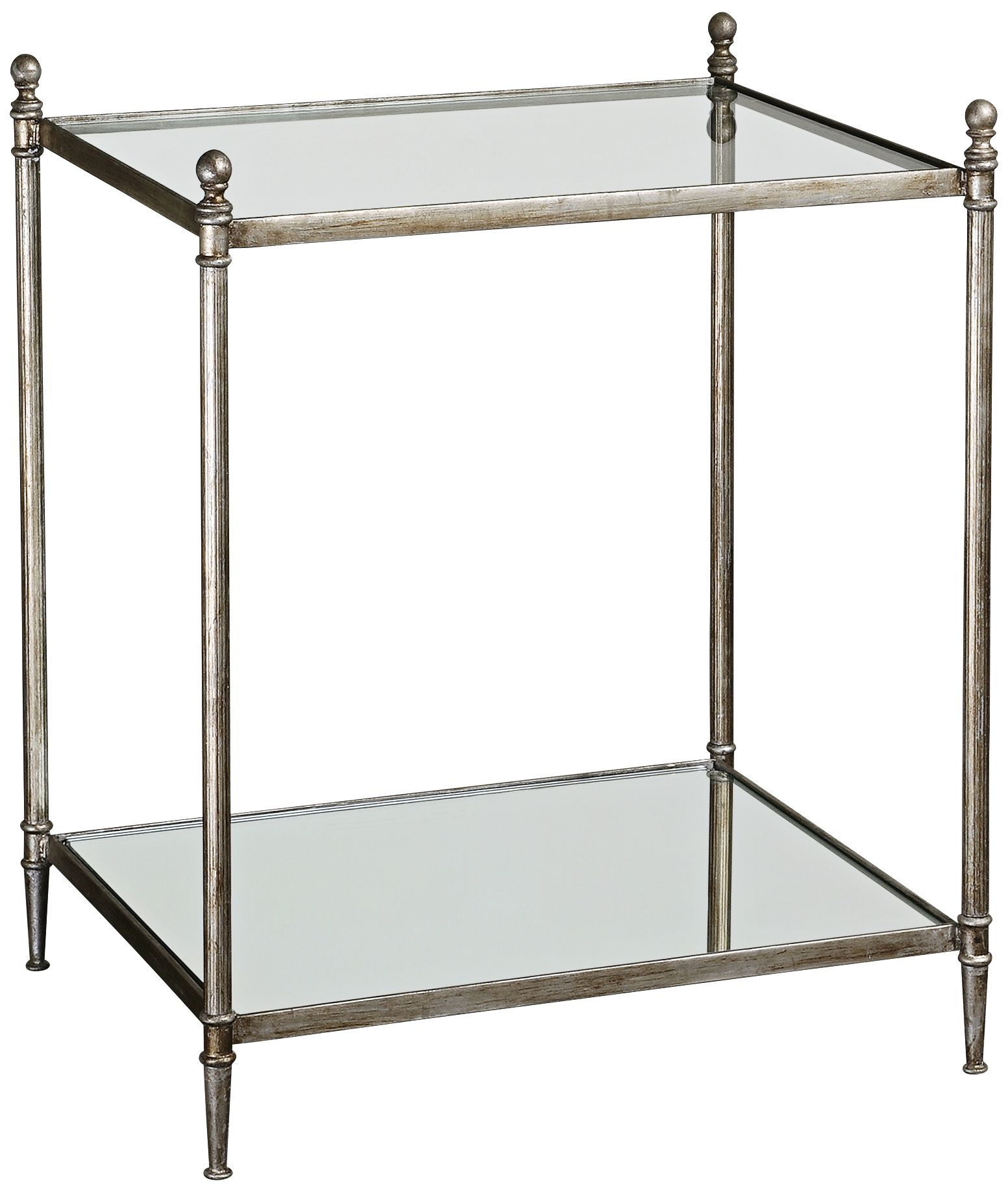 Uttermost Gannon Mirrored Glass End Table