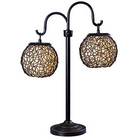 """Kenroy Home 29"""" High Castillo Portable Outdoor Table Lamp"""
