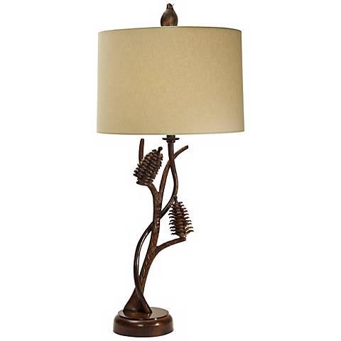 natural light pine forest metal table lamp 3f937. Black Bedroom Furniture Sets. Home Design Ideas