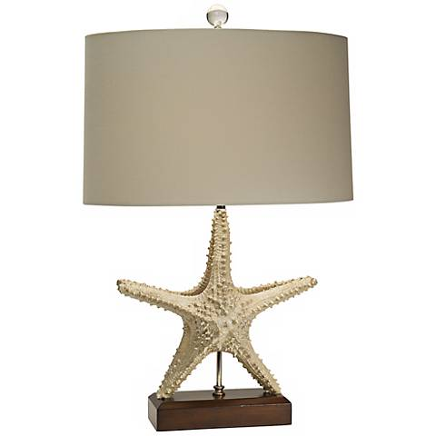 Natural Light Standing Star Sailcloth Table Lamp