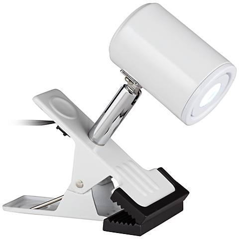 LED Mini Clip On Light in White