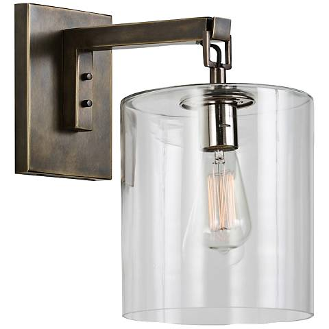 "Arteriors Home Parrish 15"" High Bronze Wall Sconce"