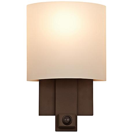 graceful curves and gorgeous calcite glass this kalco wall sconce. Black Bedroom Furniture Sets. Home Design Ideas