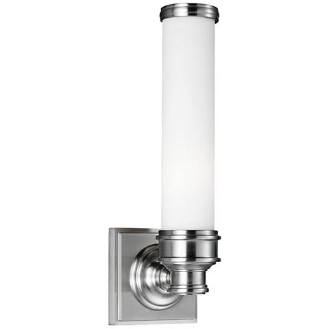 "Feiss Payne 14 1/4"" High Brushed Steel Wall Sconce"